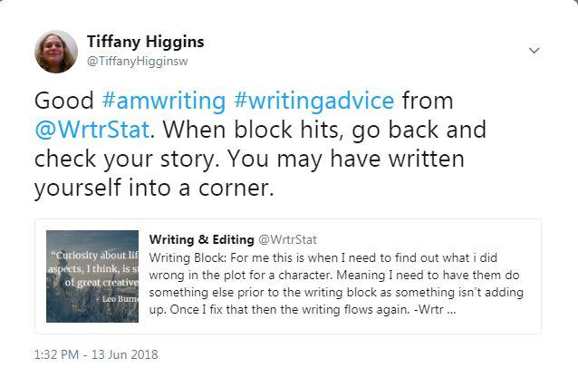 tweet-writing yourself into a corner