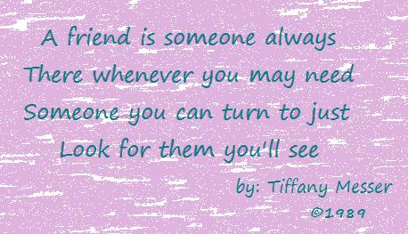 A poem aboutfriendship